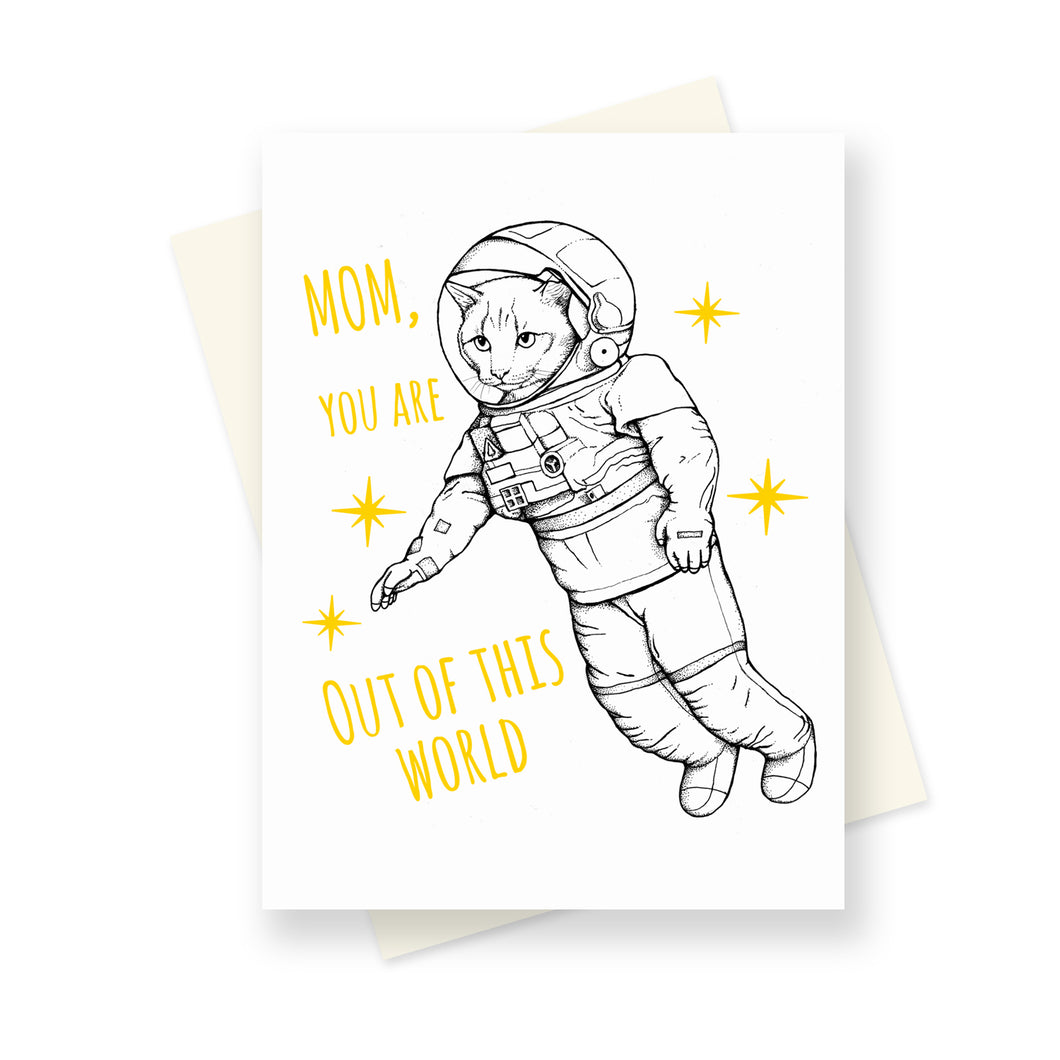 Out of this World Mom. A6 card