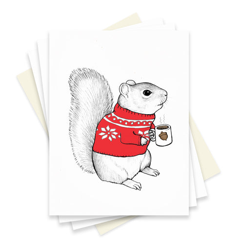 Cozy Squirrel Box Set of 6 Cards