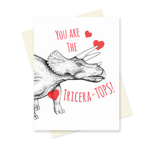 You are the Triceratops! A6 Card.