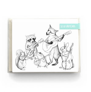 Bluegrass Critter Band Box Set of 6 Cards