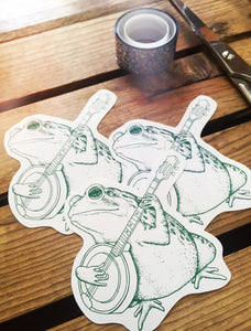 Bluegrass Banjo Toad Stickers.