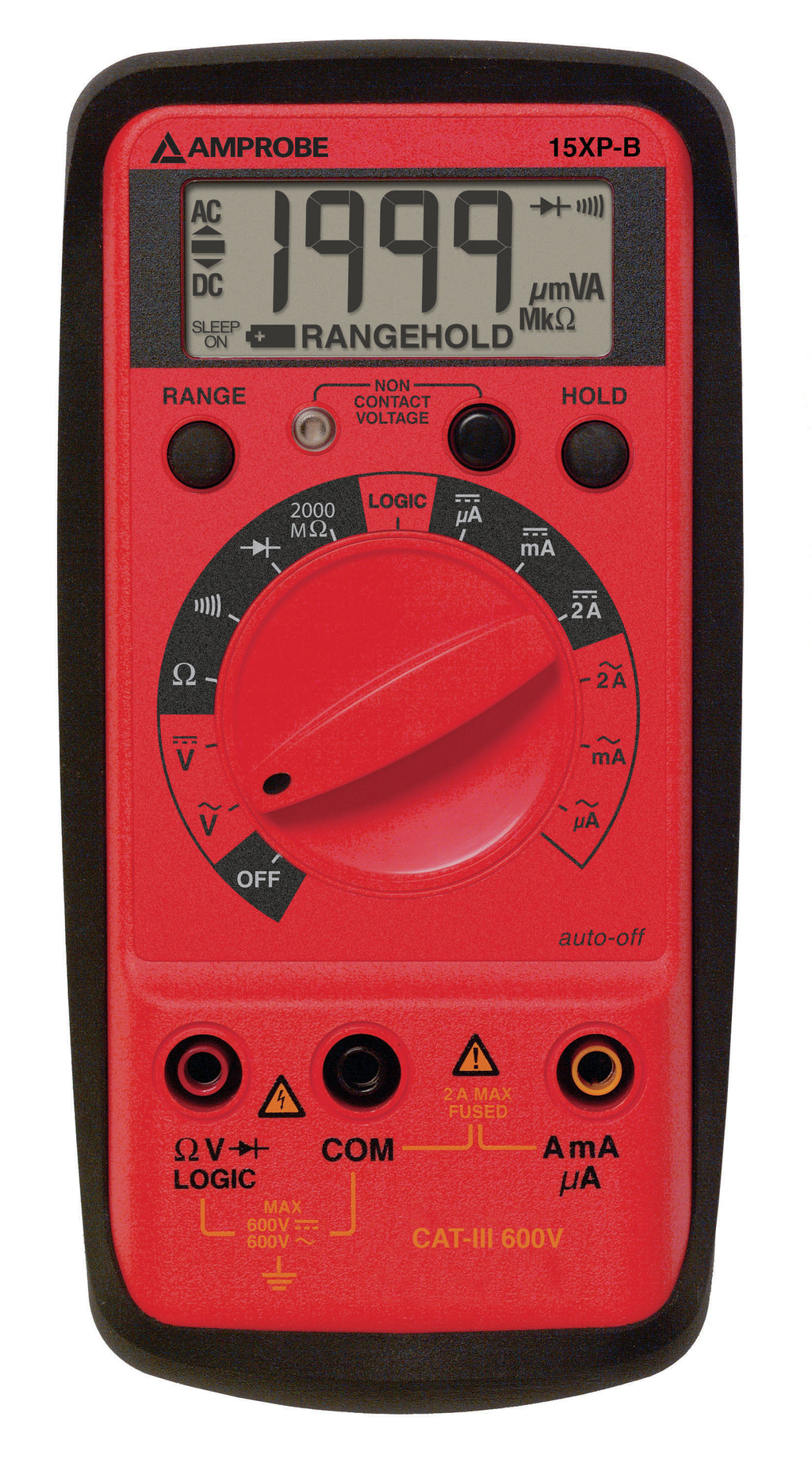 Amprobe 15XP-B Digital Multimeter VolTect™ Non-Contact Voltage Detection