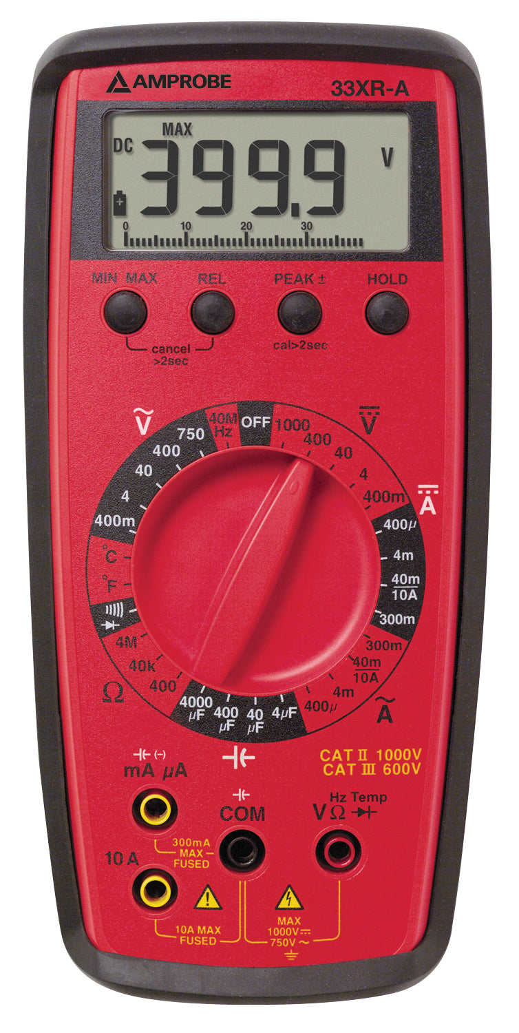 Amprobe 30XR-A Auto Ranging Digital Multimeter with VolTect™ Non-Contact Voltage Detection
