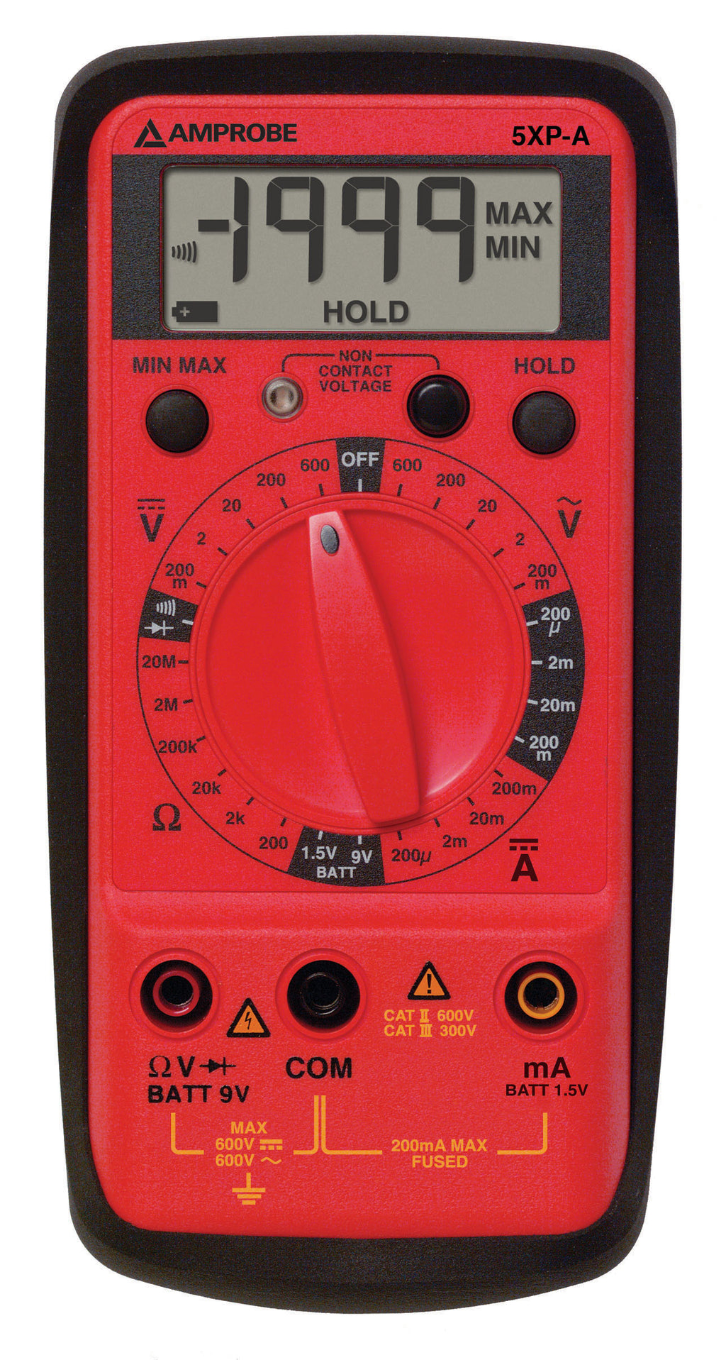 Amprobe 5XP-A AC/DC Compact Digital Multimeter with VolTect™