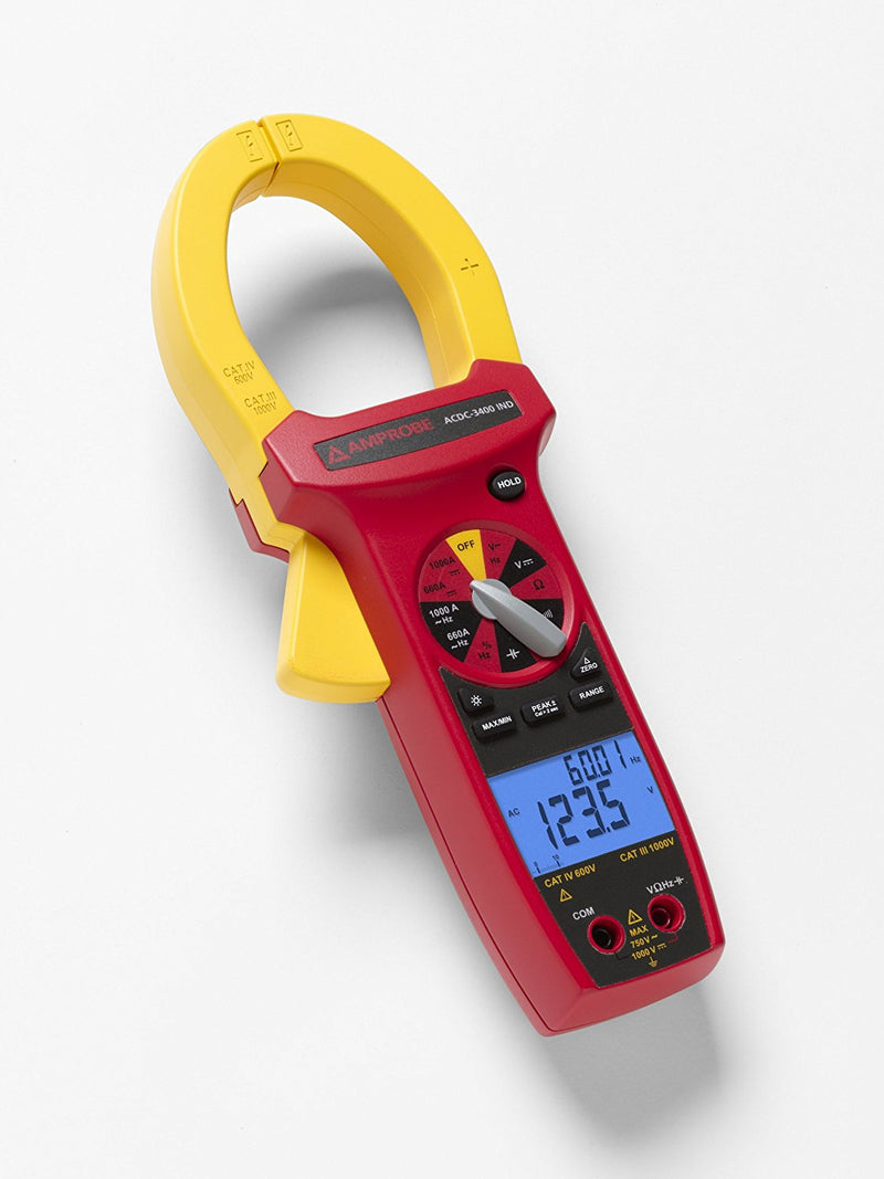 Amprobe ACDC-3400 IND AC/DC CAT IV True-rms Clamp Meter