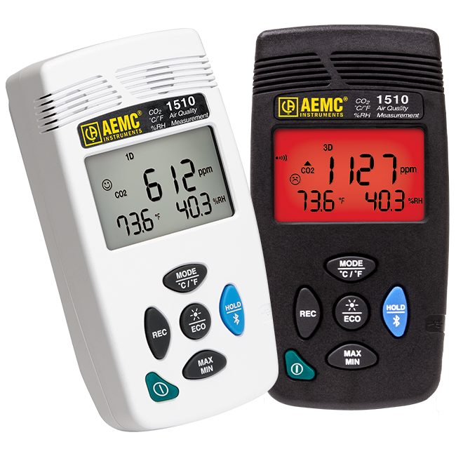 AEMC 1510 Indoor Air Quality Monitor/Data Logger, Gray