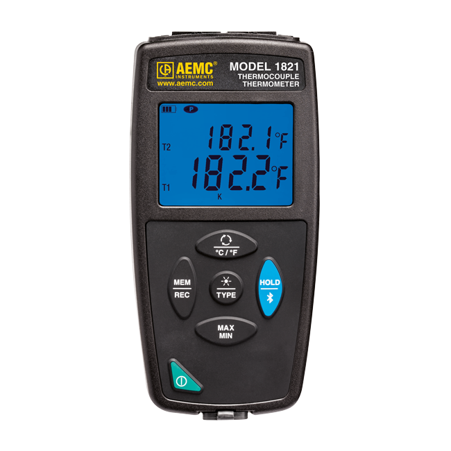 AEMC 1821 Thermocouple Thermometer/Data Logger, single channel