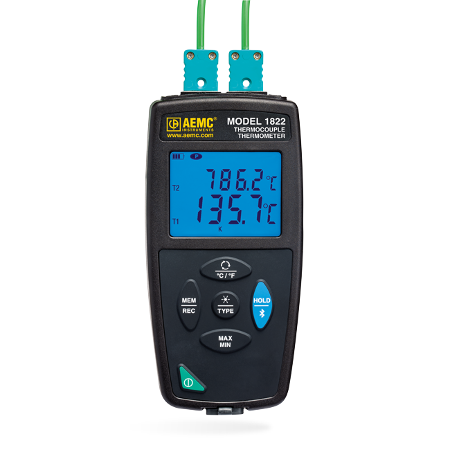 AEMC 1822 Thermocouple Thermometer Datalogger (Dual Channel)