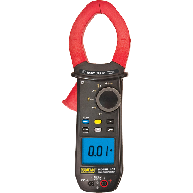 AEMC 403 True RMS Clamp Meter with Temperature, 1000A AC/1500A DC