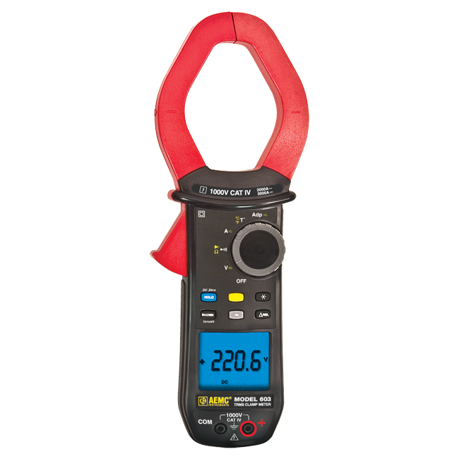 AEMC 603 True RMS Clamp Meter with Temperature, 2000A AC/3000A DC