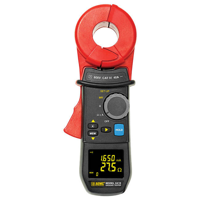 AEMC 6416 Clamp-On Ground Resistance Tester, 1500Ω