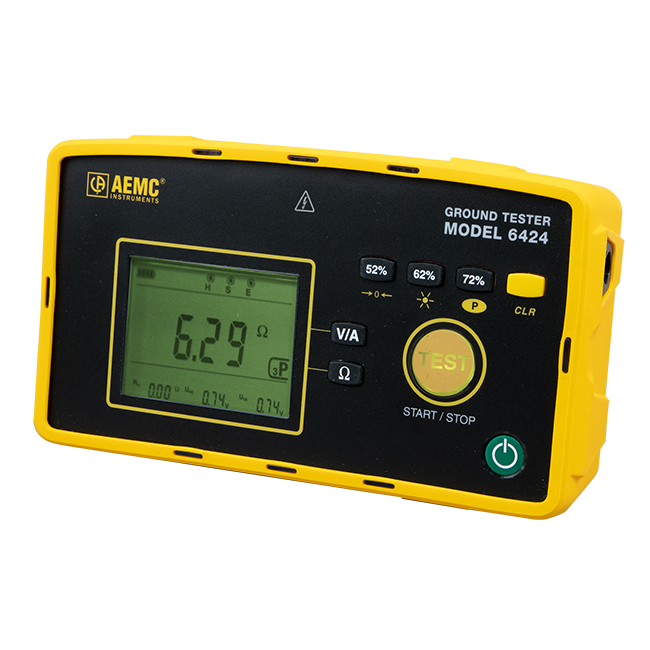 AEMC Ground Resistance Tester Model 6424 (Digital, 3-Point)