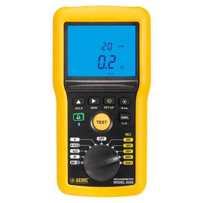 AEMC 6526 Insulation Resistance Tester, 1kV with Bluetooth