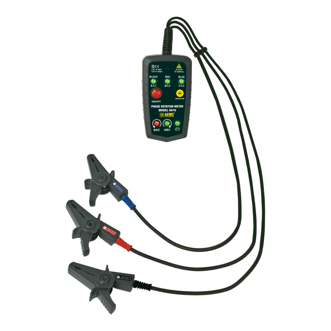 AEMC 6610 Non-Contact Phase Rotation Meter, 45 to 65Hz