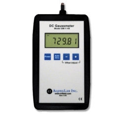 AlphaLab GM1-HS Digital DC Gauss Meter - Static Magnetic Fields up to 800 Gauss