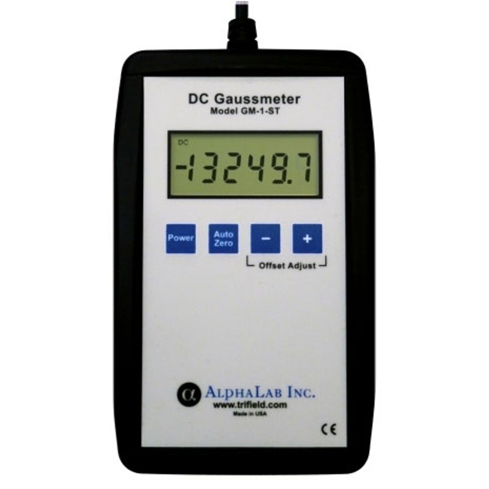 AlphaLab GM1-ST Digital DC Gauss Meter - Static Magnetic Fields up to 20,000 Gauss
