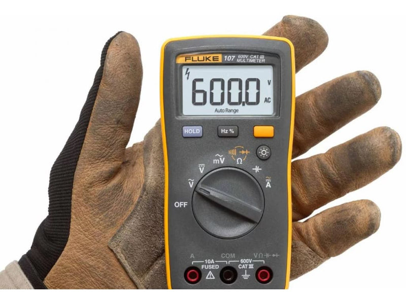 Fluke 107 Palm-Sized Multimeter, 600V