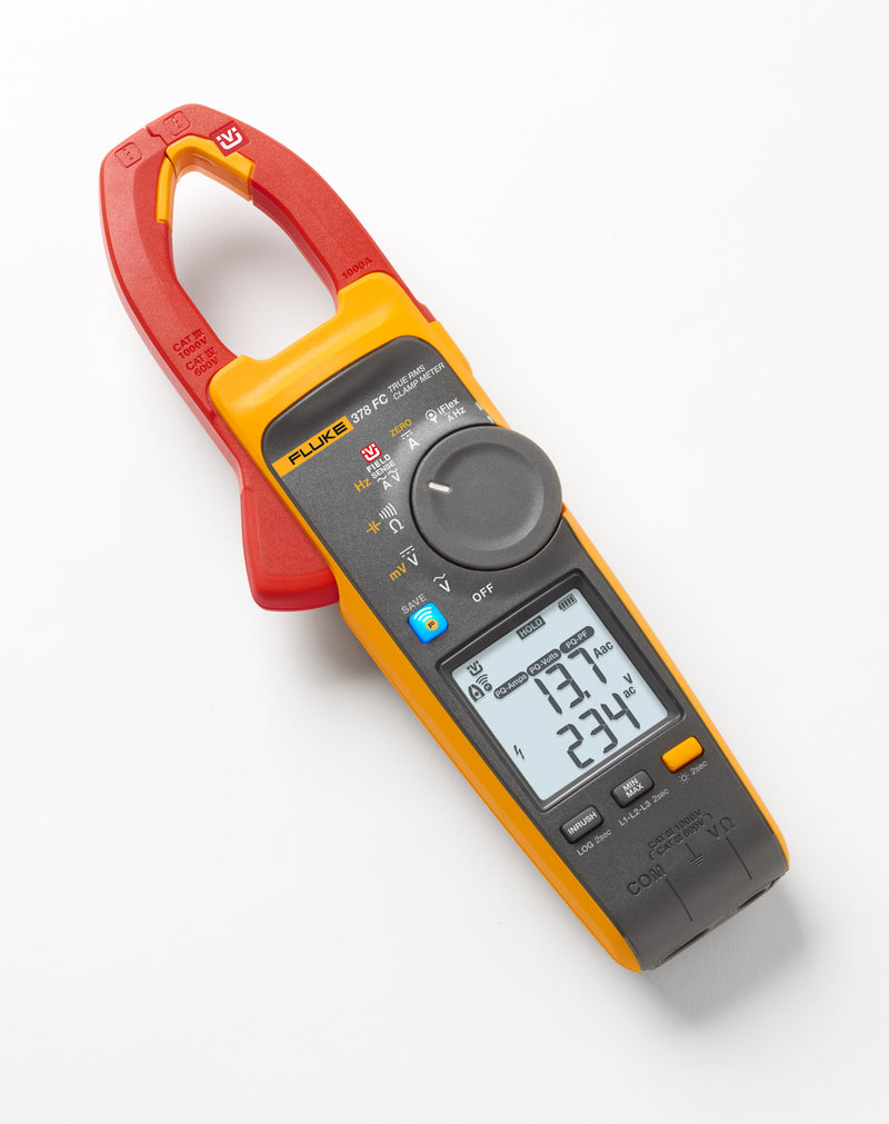 Fluke 378FC Non-Contact True RMS AC/DC Clamp Meter w/ Power Quality Indicator
