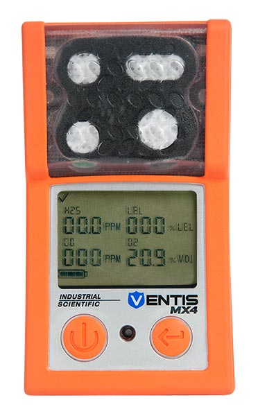 Industrial Scientific Ventis Multi-Gas Detector - LEL,CO,H2S,O2, Li-ion (VTS-K1231101101)