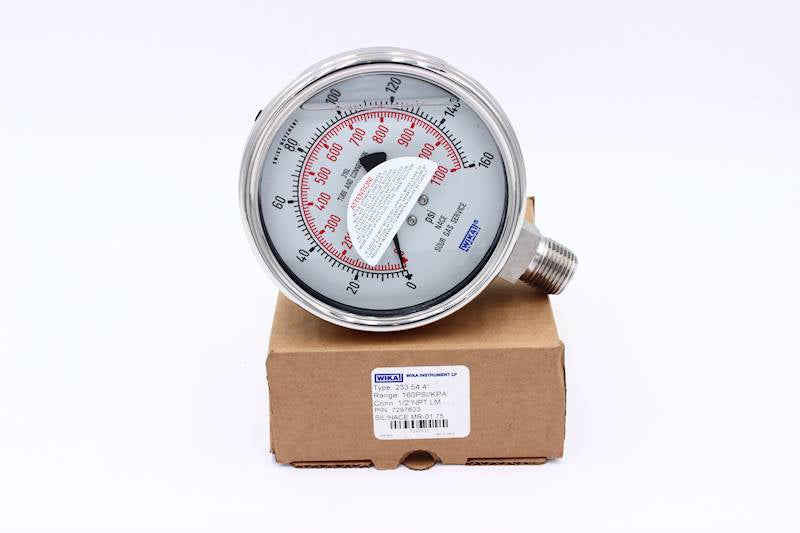 "Wika 233.54 Analogue Pressure Gauges - 4"" Dial"