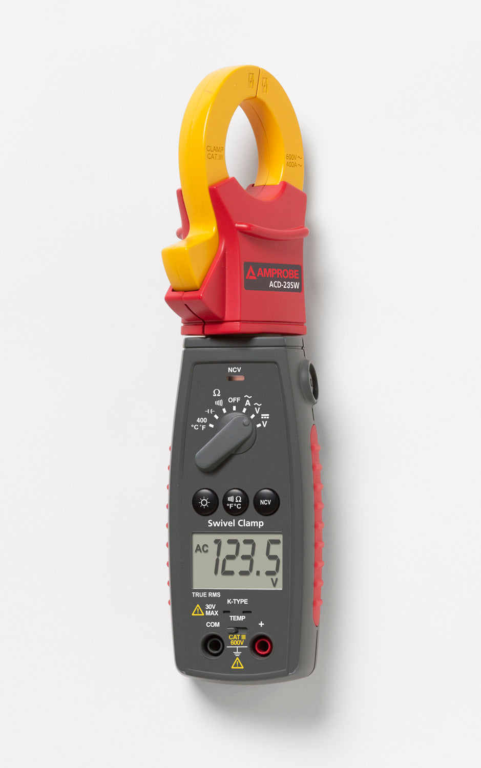 Amprobe ACD-23SW True-rms Swivel™ Clamp Meter with Temperature and VolTect™