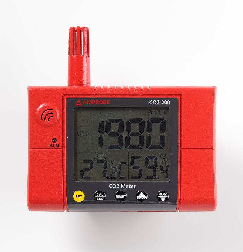 Amprobe CO2-200 Wall-Mounted CO2 Meter