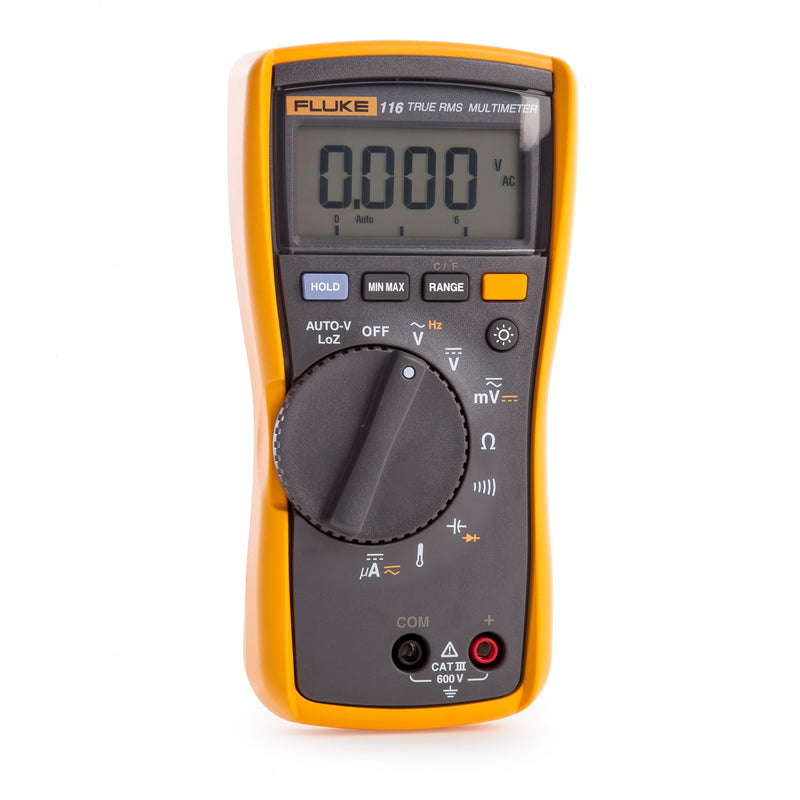 Fluke 116 HVAC Multimeter with Temperature and Microamps, 600V