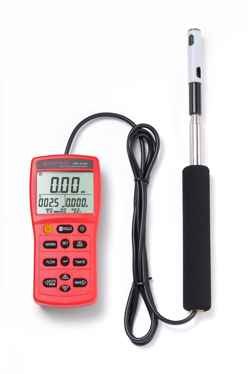 Amprobe TMA-21HW Hotwire Anemometer with Temperature