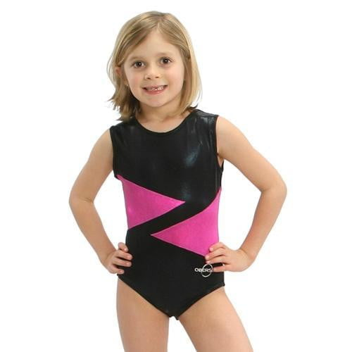 O3GL003 Obersee Girl's Girls Gymnastics Leotard - Pink Diamond - Obersee