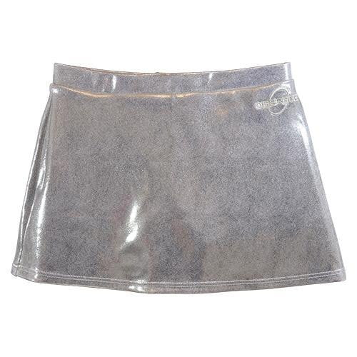 O3CHSKRT003 - Obersee Cheer and Dance Skirt - Silver - Obersee