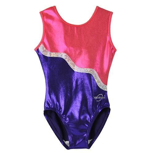 O3GL018 Obersee Girl's Girls Gymnastics Leotard - Purple Ribbon - Obersee