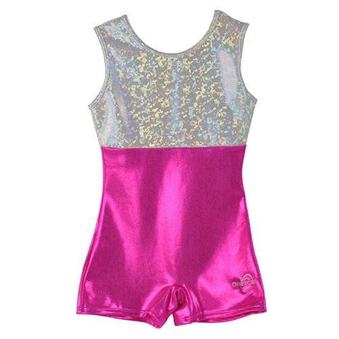 O3GL059 Obersee Girls Gymnastics Leotard One-Piece Athletic Activewear Girl's Dance Outfit Girls' & Women's Sizes - Pink Fern