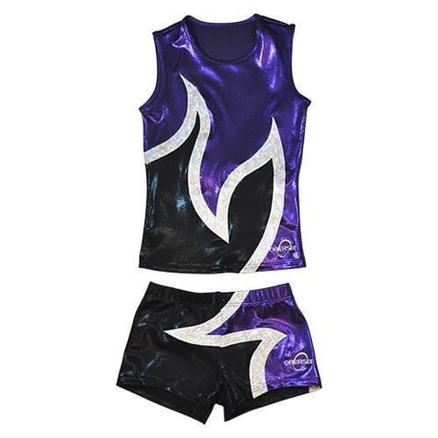 O3CHSET024 - Obersee Cheer Dance Tank and Shorts Set - Flag