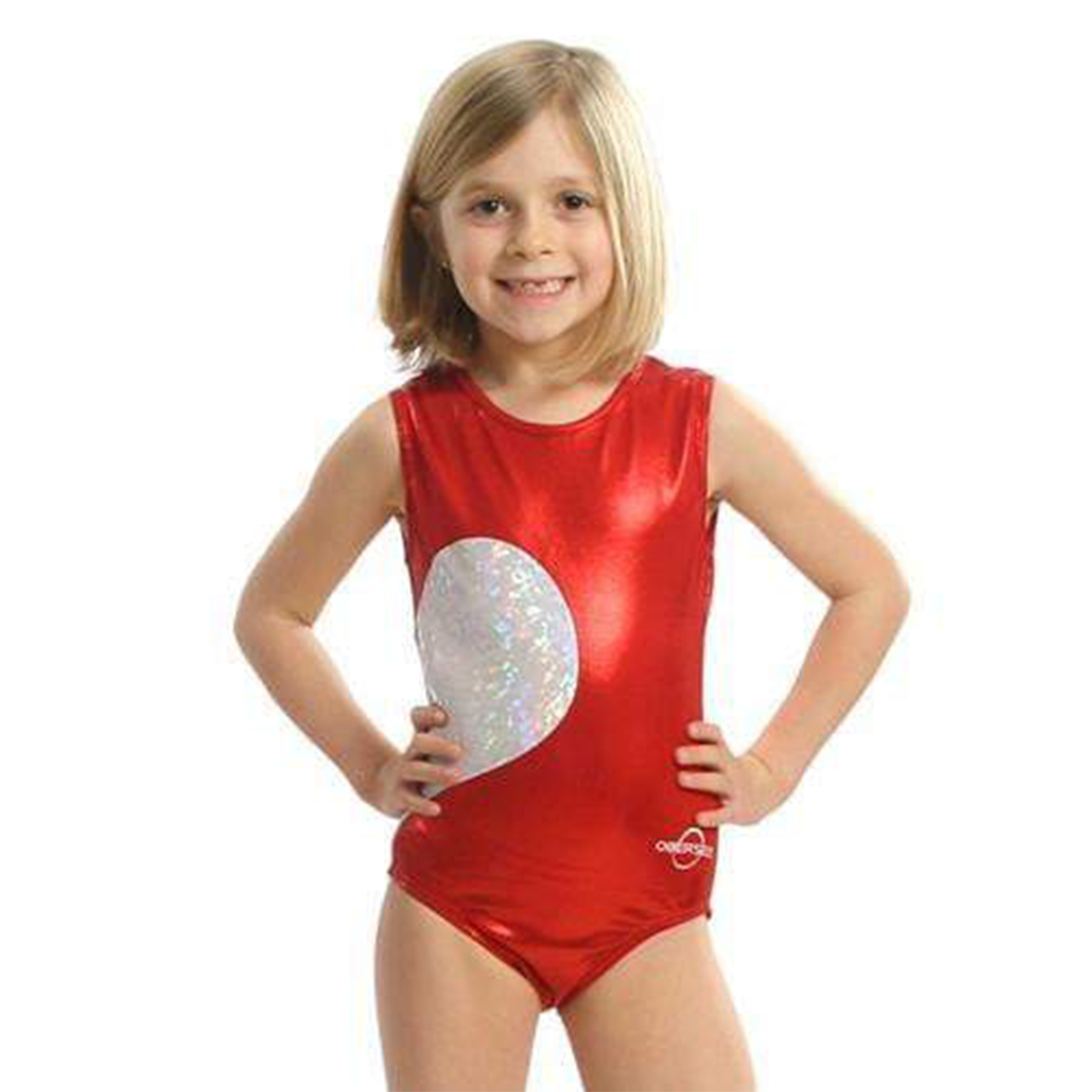 O3GL011 - Obersee Gymnastics Leotard -  | Gymnastics Apparel | Girls' & Women's | Red Heart