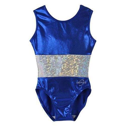 O3GL070 Obersee Girls Gymnastics Leotard One-Piece Athletic Activewear Girl's Dance Outfit Girls' & Women's Sizes - Ace Green