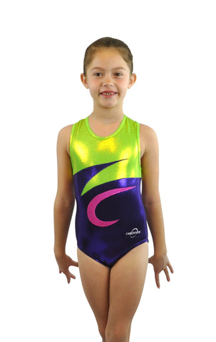 Image of O3GL023 Obersee Girl's Girls Gymnastics Leotard - Nina Purple - Obersee