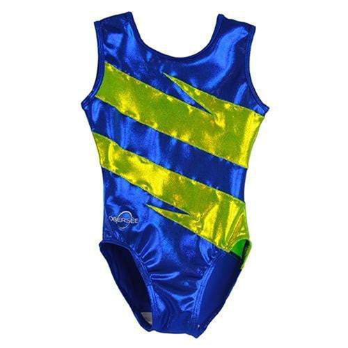 O3GL058 Obersee Girls Gymnastics Leotard One-Piece Athletic Activewear Girl's Dance Outfit Girls' & Women's Sizes - Royal Blitz