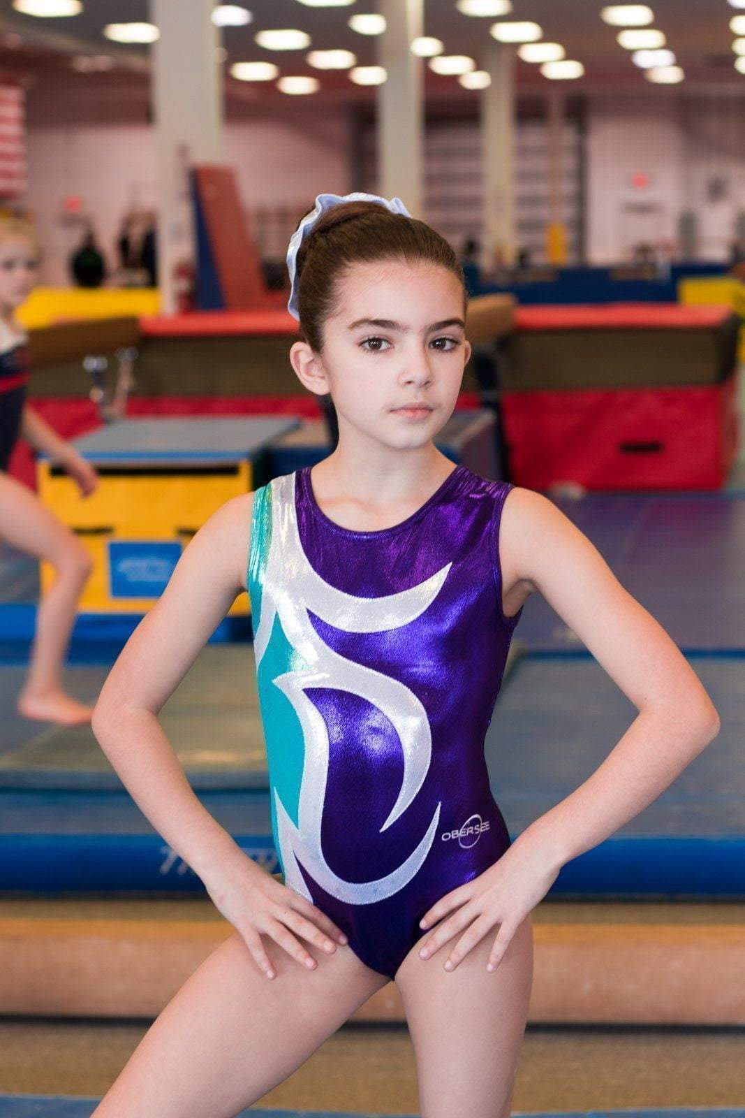 e22051d40512 Obersee Leotard for Gymnastics - Abby Purple