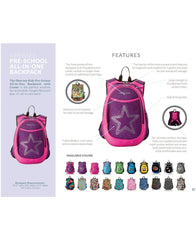 O3KCBP001 Obersee Mini Preschool All-in-One Backpack for Toddlers and Kids with integrated Insulated Cooler | Rhinestone Angel Wings