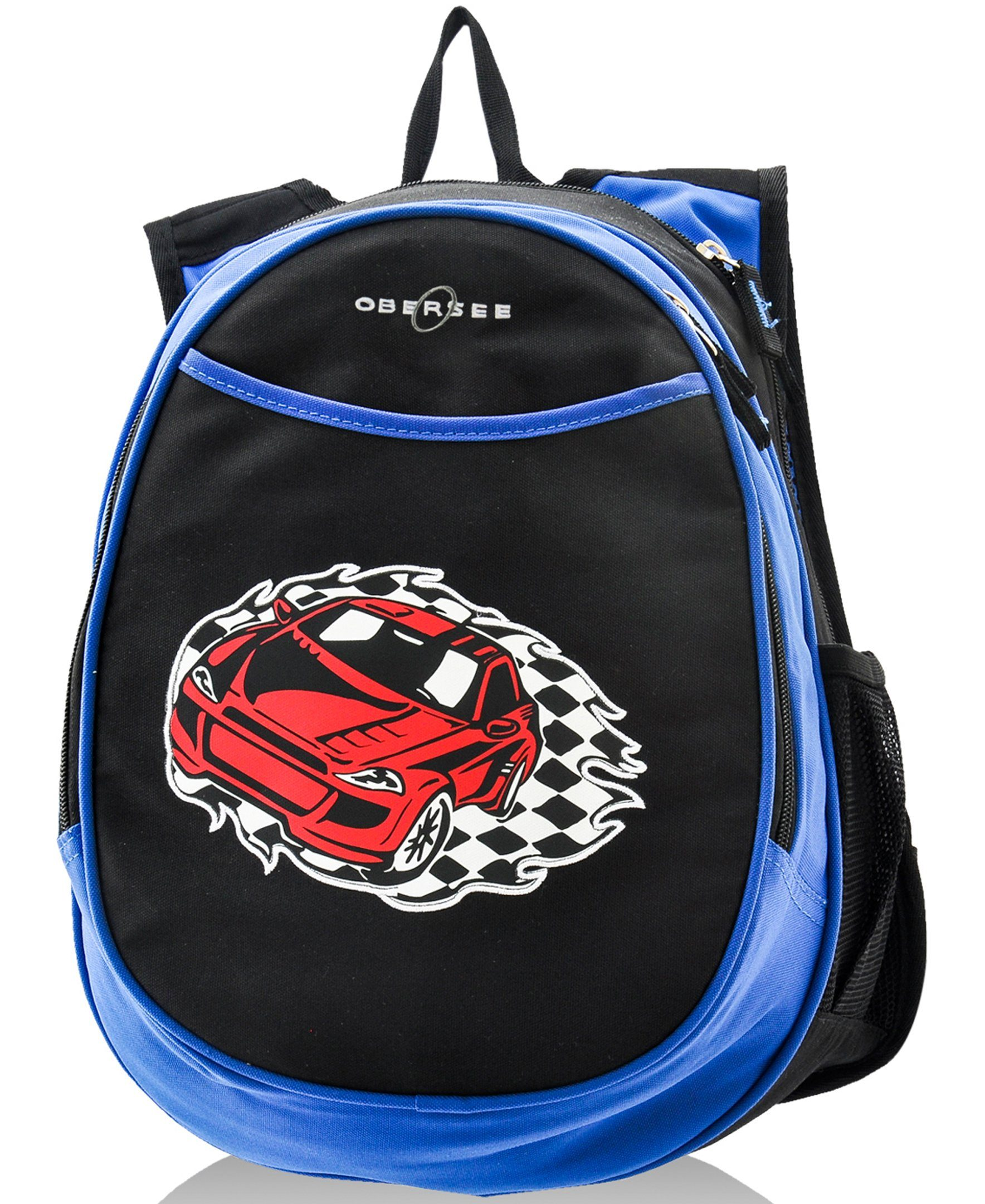 Obersee Kids Pre-School All-In-One Backpack With Cooler - Racecar