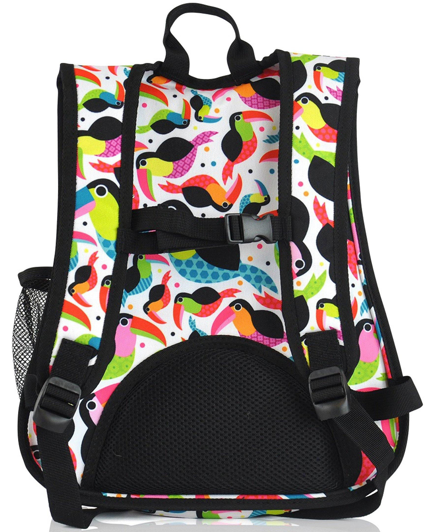 O3KCBP011 Obersee Mini Preschool All-in-One Backpack for Toddlers and Kids with integrated Insulated Cooler | Tie Dye