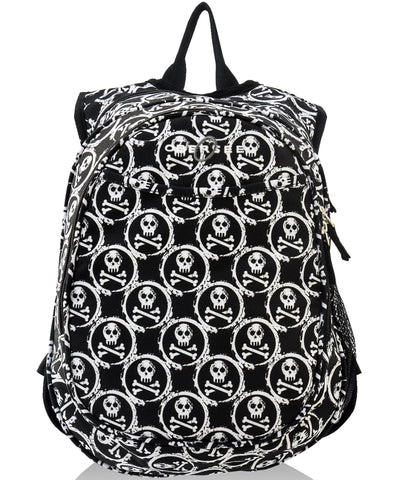 O3KCBP021 Obersee Mini Preschool All-in-One Backpack for Toddlers and Kids with integrated Insulated Cooler | Zebra