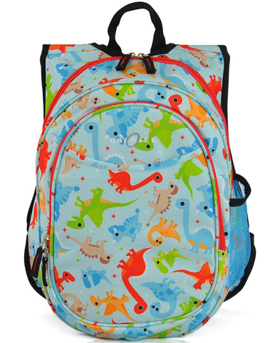 O3KCBP015 Obersee Mini Preschool All-in-One Backpack for Toddlers and Kids with integrated Insulated Cooler | Yellow Soccer