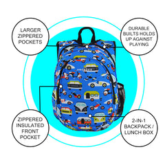 O3KCBP019 Obersee Mini Preschool All-in-One Backpack for Toddlers and Kids with integrated Insulated Cooler | Transportation