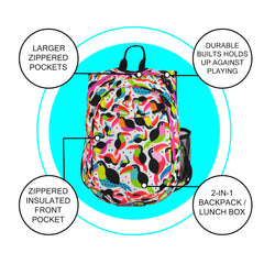 O3KCBP023 Obersee Mini Preschool All-in-One Backpack for Toddlers and Kids with integrated Insulated Cooler | Toucan