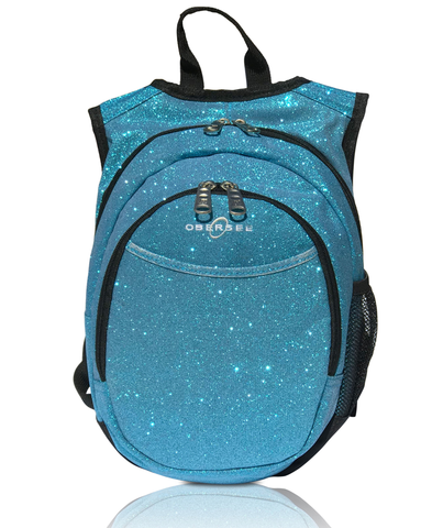 O3KCBP025 Obersee Mini Preschool Backpack for Girls with integrated Insulated Snack Cooler | Sparkle Grey Design