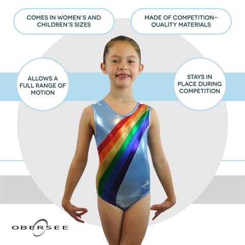 Image of O3GL035 - Obersee Gymnastics Leotard - Rainbow Arc - Obersee