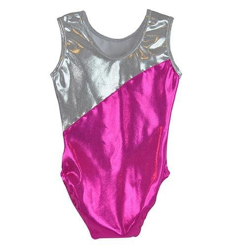 O3GL046 Obersee Girl's Girls Gymnastics Leotard - Carrie Pink - Obersee