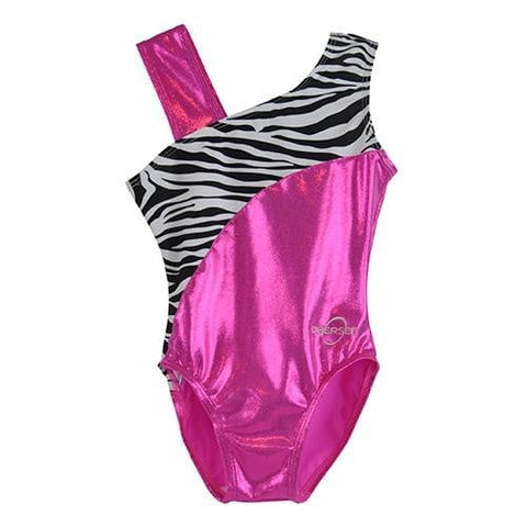 O3GL036 Obersee Girl's Girls Gymnastics Leotard - Pink Feather