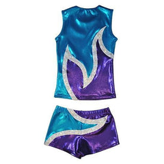 O3CHSET022 - Obersee Cheer Dance Tank and Shorts Set - Anya Turquoise - Obersee